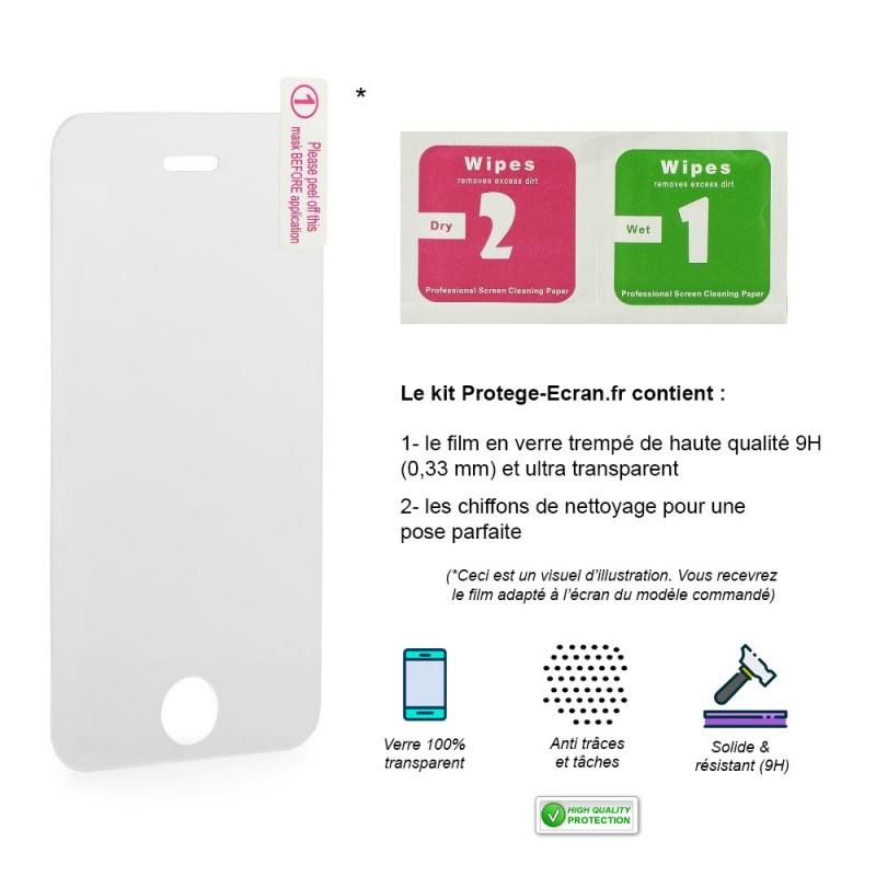 Le kit de film en verre trempé pour iPhone 8
