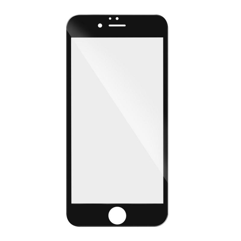 Verre trempé iPhone XR / 11 noir contour intégral 5D bords incurvés 9H