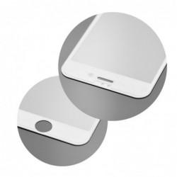 Verre trempé iPhone 7 plus / 8 Plus blanc contour intégral 5D bords incurvés 9H