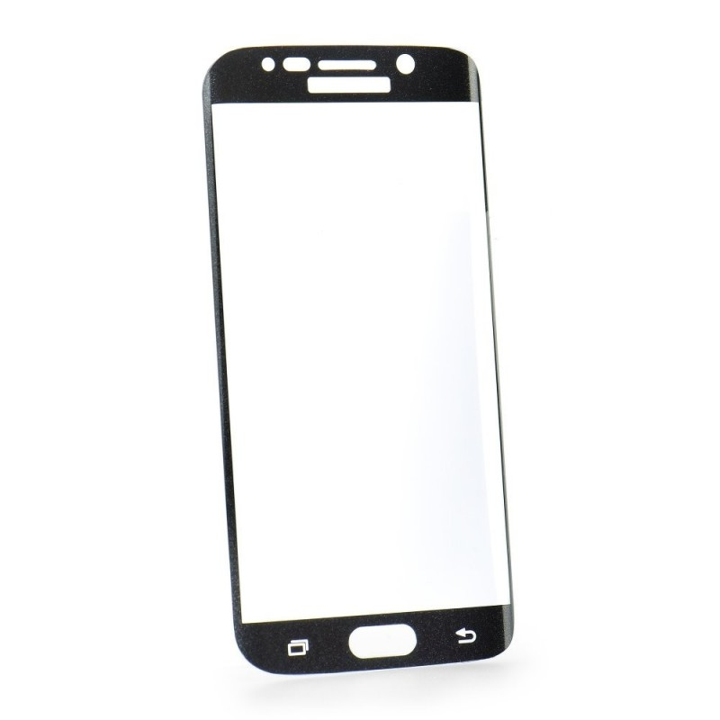 Verre trempé Galaxy S7 noir contour intégral 3D bords incurvés 9H